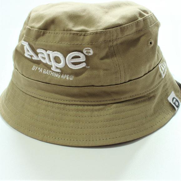 AAPE by A Bathing Ape Bape Bucket Hat Cap Tan Men e826c57cb57